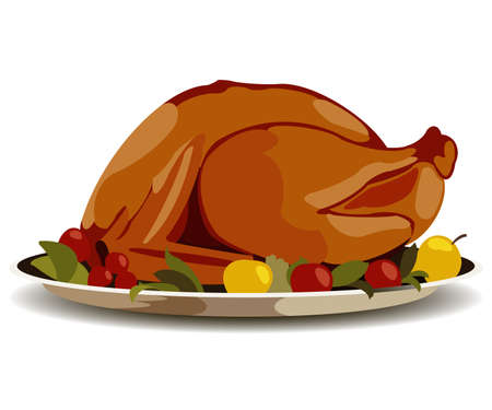 Thanksgiving fried turkey Stock Vector - 22005219