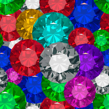 Jewels  Seamless texture  Vector illustration  Clip art