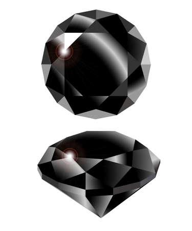 Vector black diamond on white background. Clip-Art. Vector