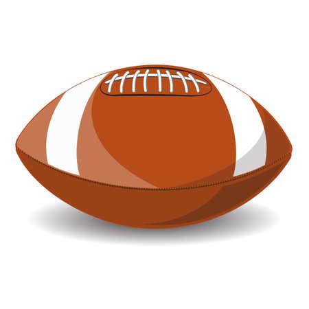 college footbal: F�tbol americano. Aislado en el fondo blanco. Ilustraci�n vectorial