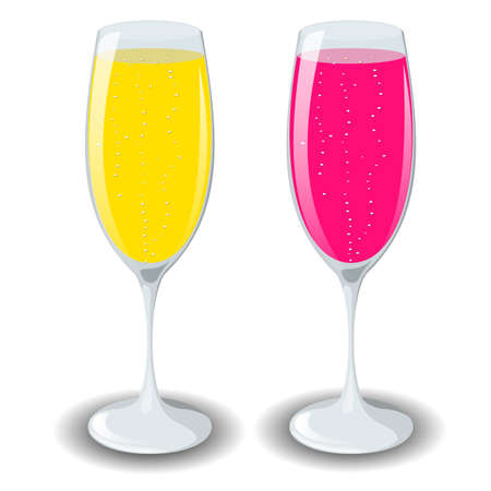 champagne glasses: champagne glasses isolated before white background