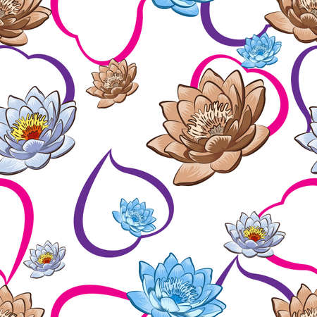 Seamless floral wallpaper  Illustration  clip art Vector
