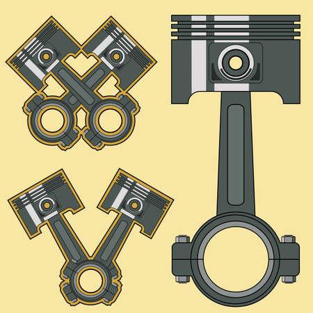 Car engine piston illustration.