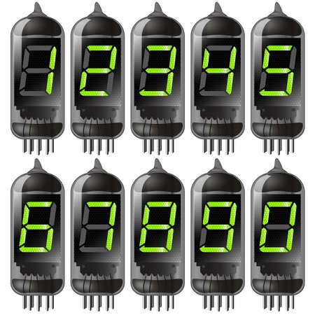 mash: vacuum tube with numbers set. gradient mash