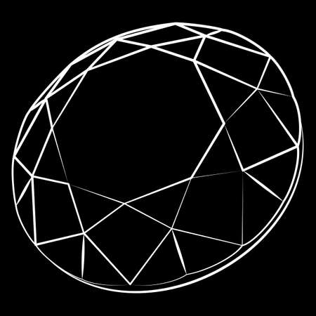 clear out: Vector illustration - diamond. a sketch of the facets.