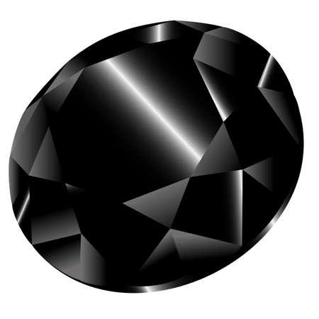 mash: Vector black diamond on white background. Clip-Art. Gradient mash