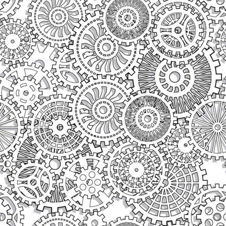 Seamless texture gear wheels Illuctration clip art Vector