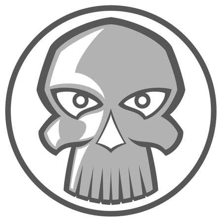 Illustration of evil skull. Illustration clip art Vector