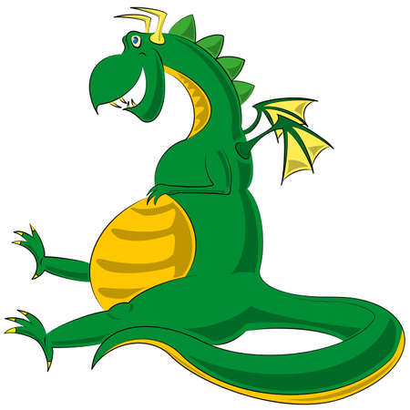 classical mythology character: Dragon image - vector illustration. clip art