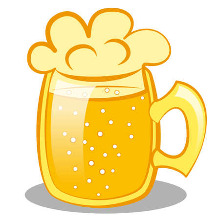 beerhouse: beer mug with a beer. clip art