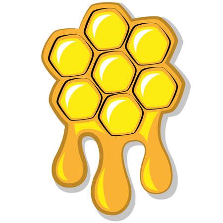 Panal de abeja de miel, ilustraci�n vectorial Vectores