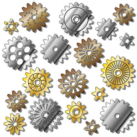 the vector gears . Gradient mash. illuctration clip art Vector