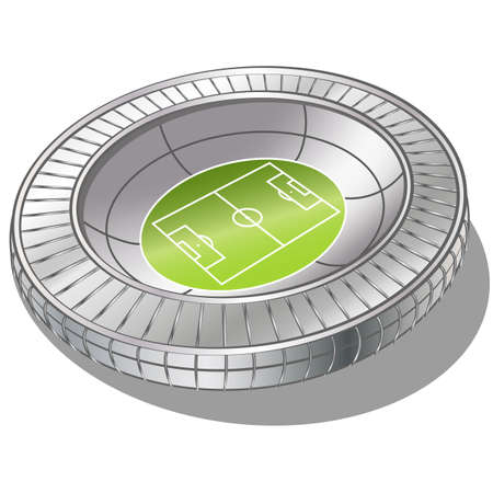 Football Soccer Stadium Vector . gradient mash