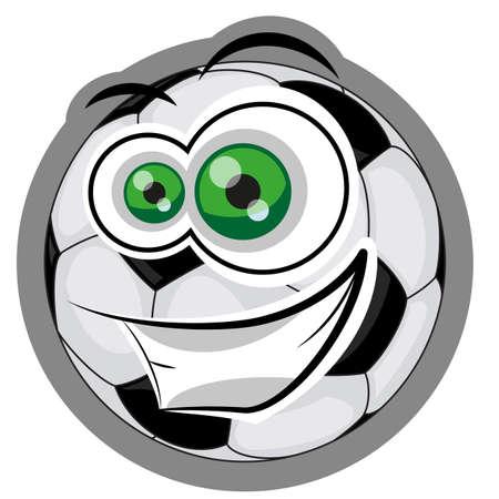 Ilustraci�n de un hombre feliz linda mascota de la pelota de f�tbol soccer Vectores
