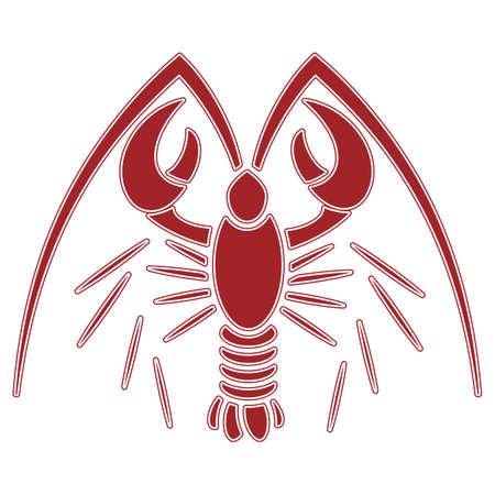 lobster illustration clip art . no mash na gradient Illustration