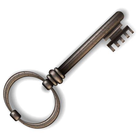oude sleutel: Oude sleutel. Vector illustratie. gradiënt mash