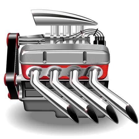Vector illustratie van de motor. Gradiënt puree.