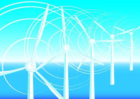 Fondo abstracto concepto de energ�a limpia, vector. mash gradiente Vectores