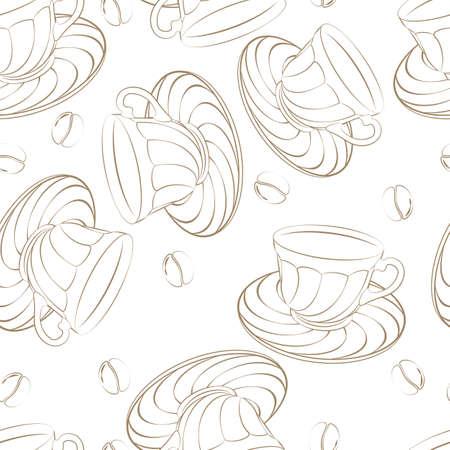 ilustraci�n vectorial de un patr�n de caf� perfecta