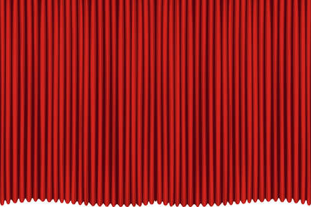 Rred drapes curtain. No mash no gradient.  Ilustrace
