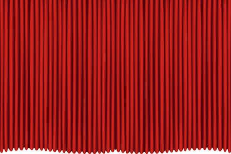 Rred drapes curtain. No mash no gradient.  Illustration