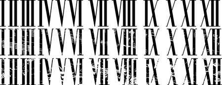 Romeinse cijfers ingesteld. geen puree geen verloop