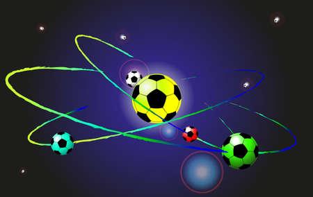 Football soccer ball abstract vector background. gradient mash Vector