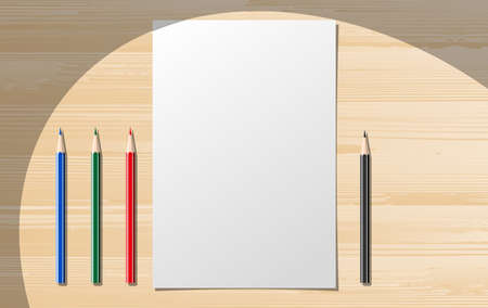 Paper notebooks with pensils. illustration clip art