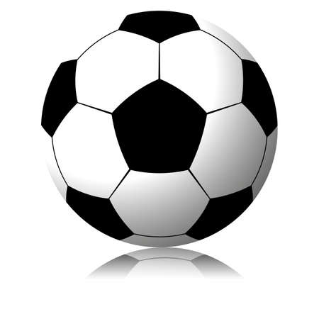 Football  soccer ball isolated on white background Vector