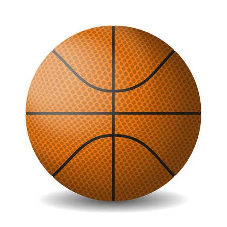 Orange basket ball, isolated in white background. Gradient mash
