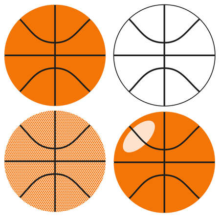 Basketball ball set isolated on a white background. Vector illustration. Vector