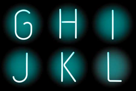 mash: Vector mesh realistic letters of neon tubes. Gradient mash