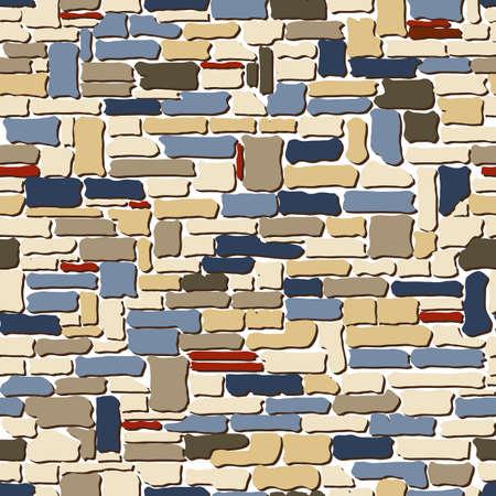 prison house: stone seamless texture. No mash no gradient. Vector illustration Illustration