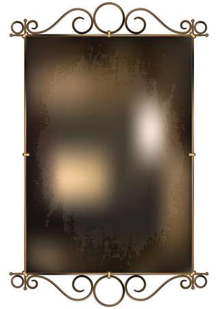 mash: vintage wrought-iron sign. vector background. gradient mash Illustration