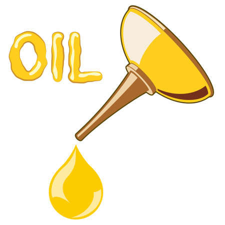 oil change: Oil Lubricator with oil. no mash no gradient Illustration