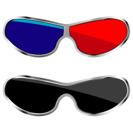 anaglyph glasses Stock Vector - 29836149