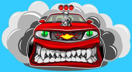 Angry car Stock Vector - 29836157