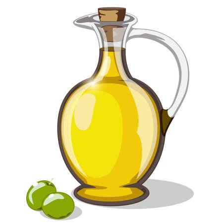 oliwa z oliwek Ilustracje wektorowe