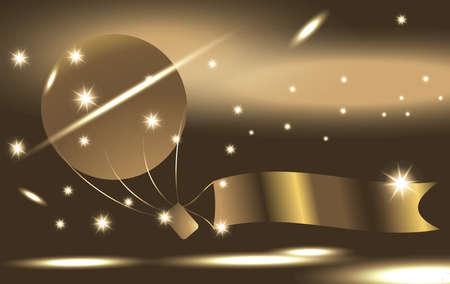 Globo de oro Vectores