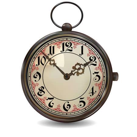 Rusty reloj de bolsillo Ilustración de vector