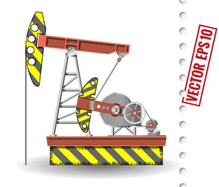 borehole: oil pump Illustration