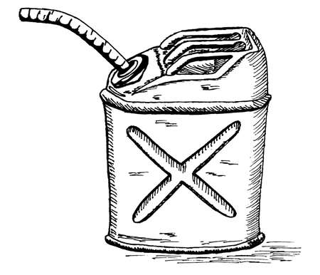 lowbrow: retro cartoon gas can Illustration