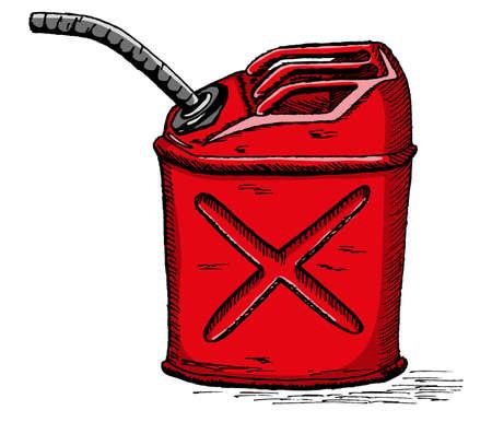lata de gasolina Vectores