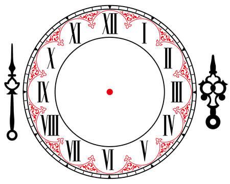 ヴィンテージ時計  イラスト・ベクター素材