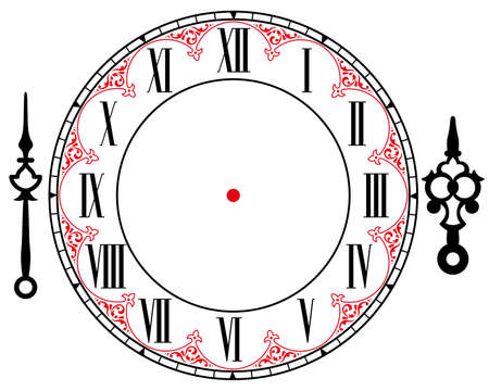 clock: vintage clock Illustration