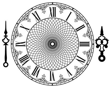 time clock: vintage clock Illustration