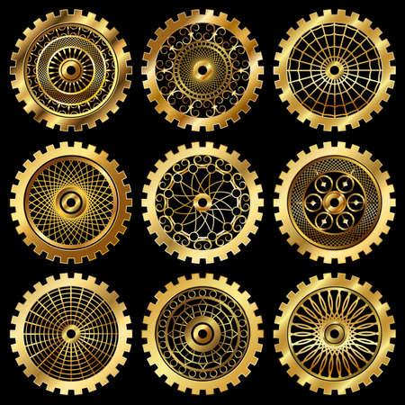 the gears  イラスト・ベクター素材