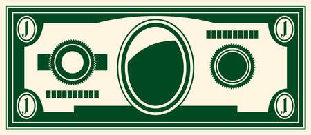fanned: one dollar