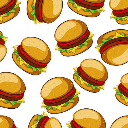 ハンバーガーの背景  イラスト・ベクター素材