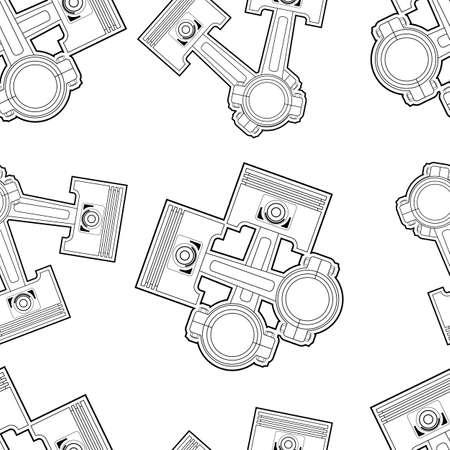piston seamless Vector